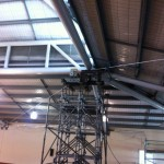 Main Scaffold tower for tilt panel re-alignment.